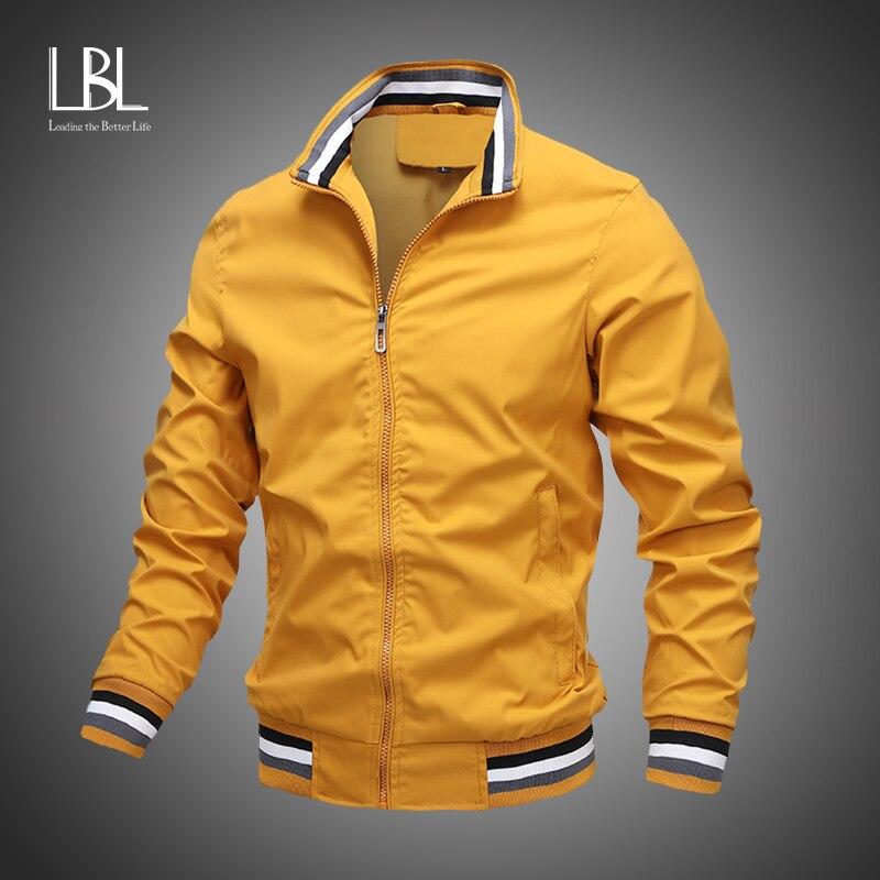 Новая мужская куртка-бомбер на молнии, осень 2020, мужская повседневная Уличная куртка в стиле хип-хоп, приталенная куртка-пилот, мужская одеж...