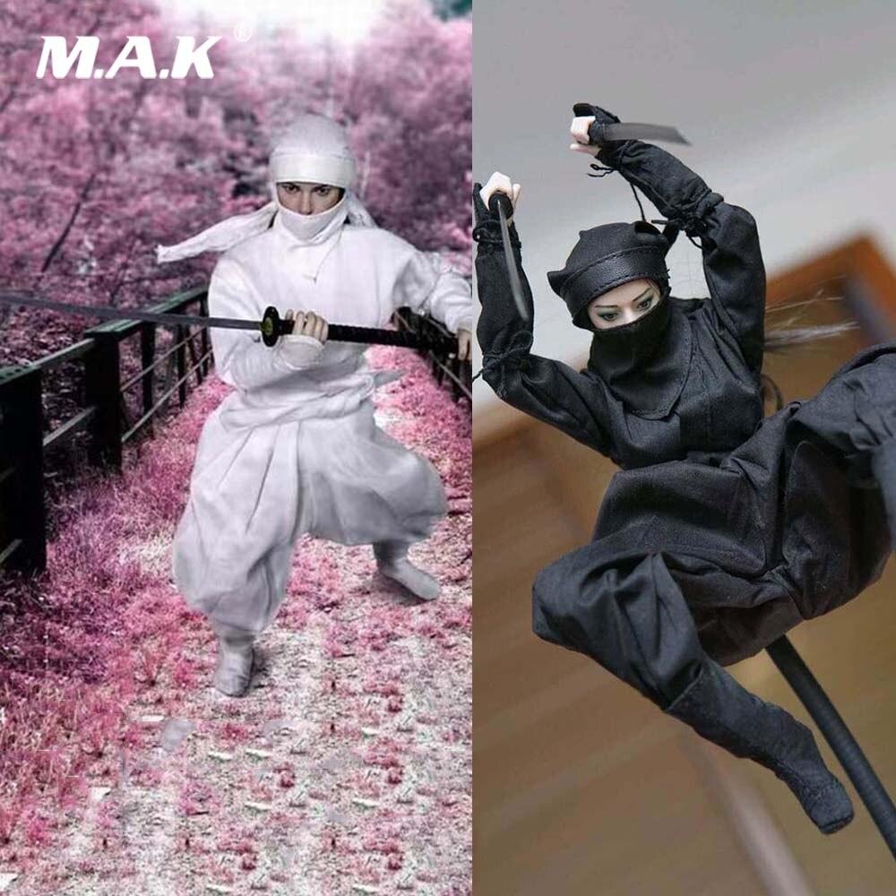 Белый/черный Color1/6 весы женская мода комплект одежды аксессуар японский ниндзя комплект одежды модель для детей возрастом от 12 ''фигурку мяг