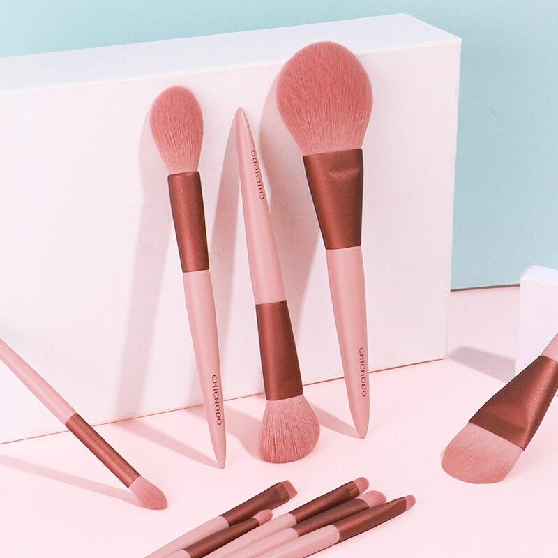 CHICHODO makyaj fırçası-2020 yeni kiraz çiçeği kozmetik fırça seti yumuşak yün elyaf saç makyaj aracı ve güzellik kalemler için acemi