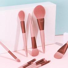 Pincel de maquiagem de chichodo-2020 nova flor de cerejeira conjunto de escovas cosméticas-fibra de lã macia cabelo-maquiagem ferramenta & canetas de beleza-para iniciante