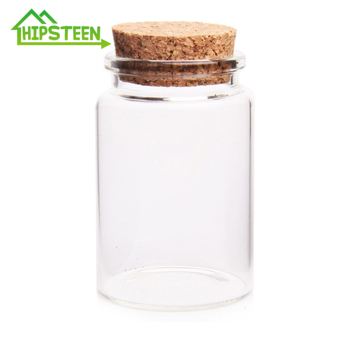 Glass-Bottles Craft Cork-Stoppers Decoration-Transparen 80ML With For DIY 47--70mm Empty-Sample-Jars