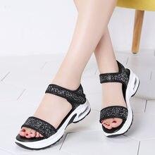 Блестящие женские сандалии легкие Нескользящие пляжные для женщин