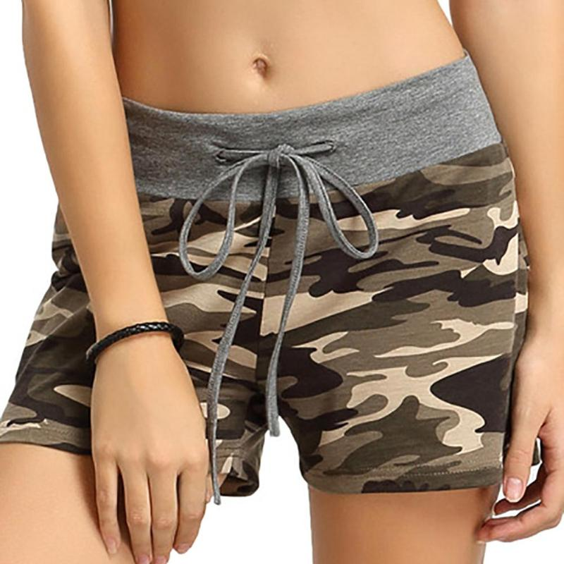 Summer Women Camouflage Shorts Casual Cotton Shorts  Female High Quality Camo Cargo Army Green Clothes Shorts