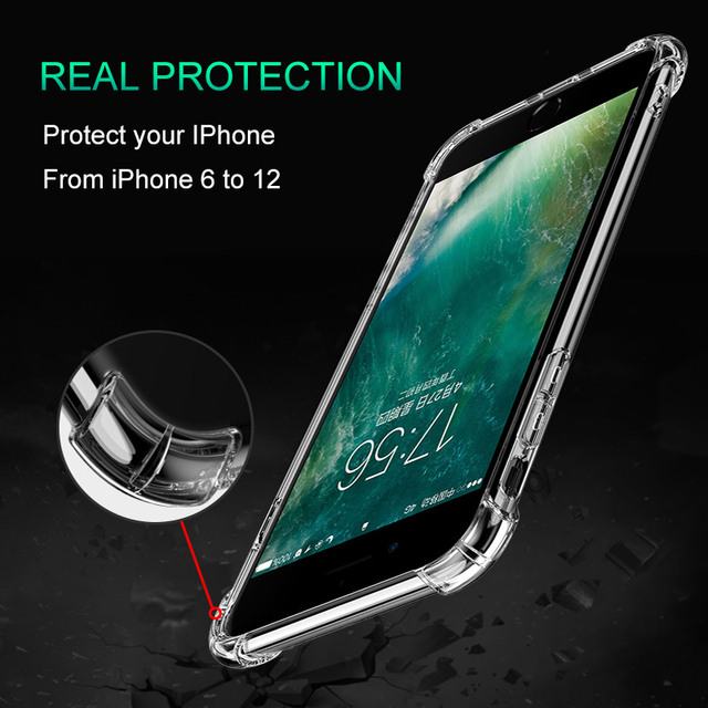 Thick Shockproof Silicone Phone Case For iPhone 12 11 Pro Xs Max lens Protection Case on iPhone X Xr 6s 7 8 Plus case Back Cover 5