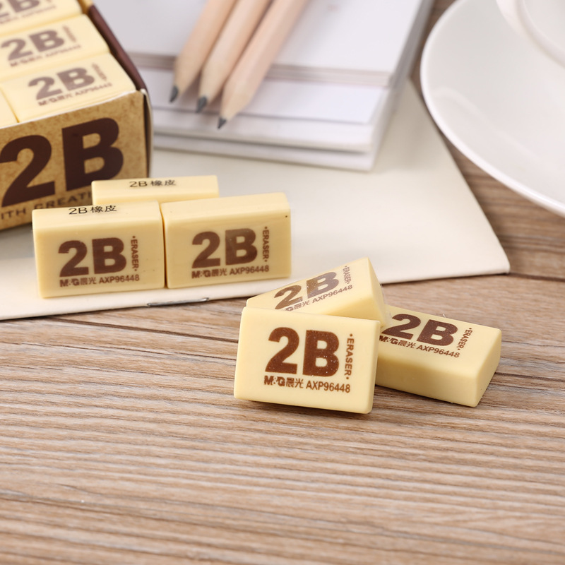 M&G Stationery Rubber 2B Mapping Rubber Eraser Students Creative Cartoon Cute Stationery Small Rubber AXP96448