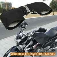 1 paar Winter Thermische Motorrad Lenker Handschuhe Winddicht Wasserdichte Warme Motorrad Griff Bar Hand Abdeckung Muffs