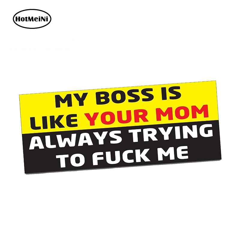 HotMeiNi 13cm x 6cm MY BOSS LIKE Bumper Sticker Funny WHEELER <font><b>Car</b></font> <font><b>4X4</b></font> <font><b>Offroad</b></font> 4wd Dirt JDM <font><b>Car</b></font> Stickers image