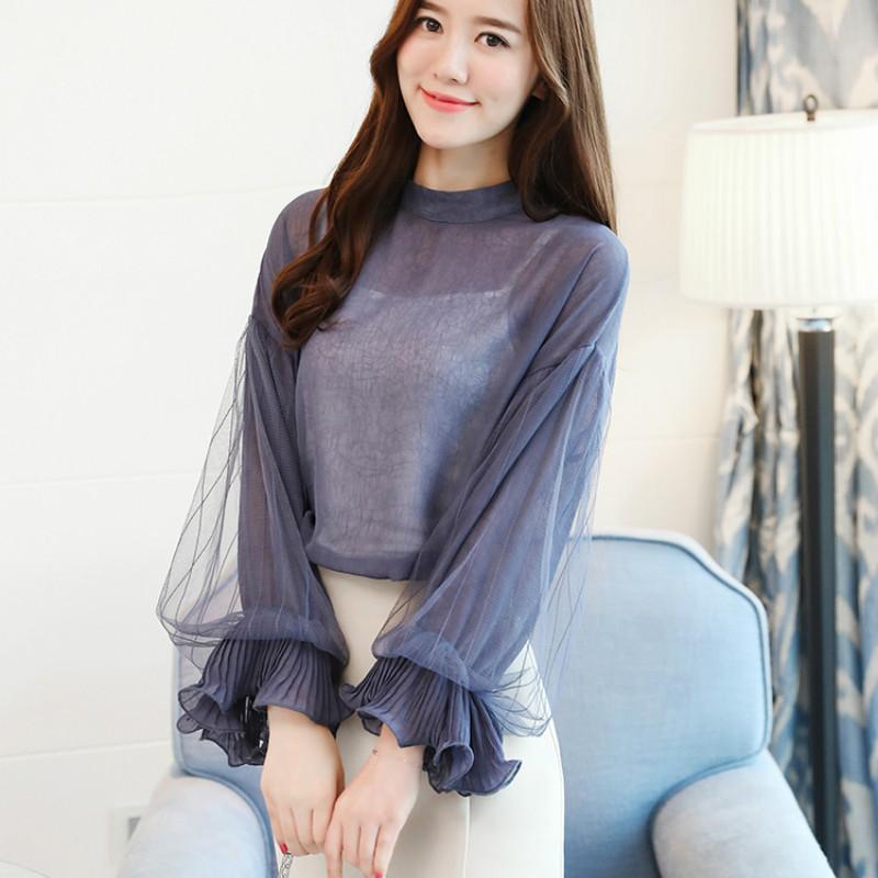 2019 Women tops and Blouses ruffless Summer autumn Long Sleeve White Shirt Casual Female Chiffon Blouse Women Clothing plus size 33