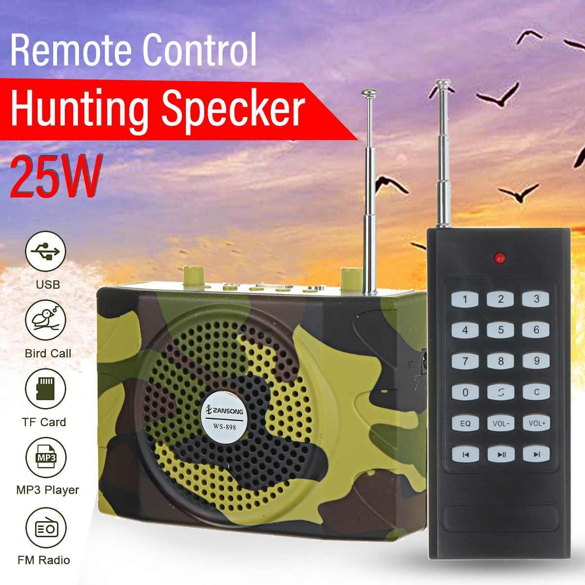 Hunting Speaker Remote Control Bird Caller Predator Sound FM Radio MP3 Player Lanyard Kit Camouflage Hunting Decoy Accessories