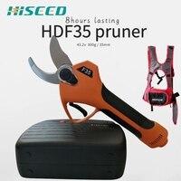 Hiseed 43.2V 배터리 전기 전정 가위 과수원 가지 커터 절단 도구 Pruner 가위 정원 가지 치기 도구