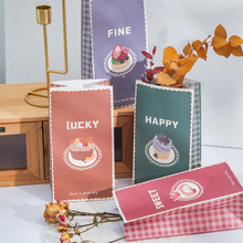 4pcs/pack 27cm gift bag paper bag kraft paper letter storage bag birthday wedding party