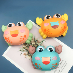 Funny Baby Toys Cartoon Crab Lobster Rattle Toy Press Back Force Inertial Slide Toy Infant Toddler Educational Mobile Toy Gift
