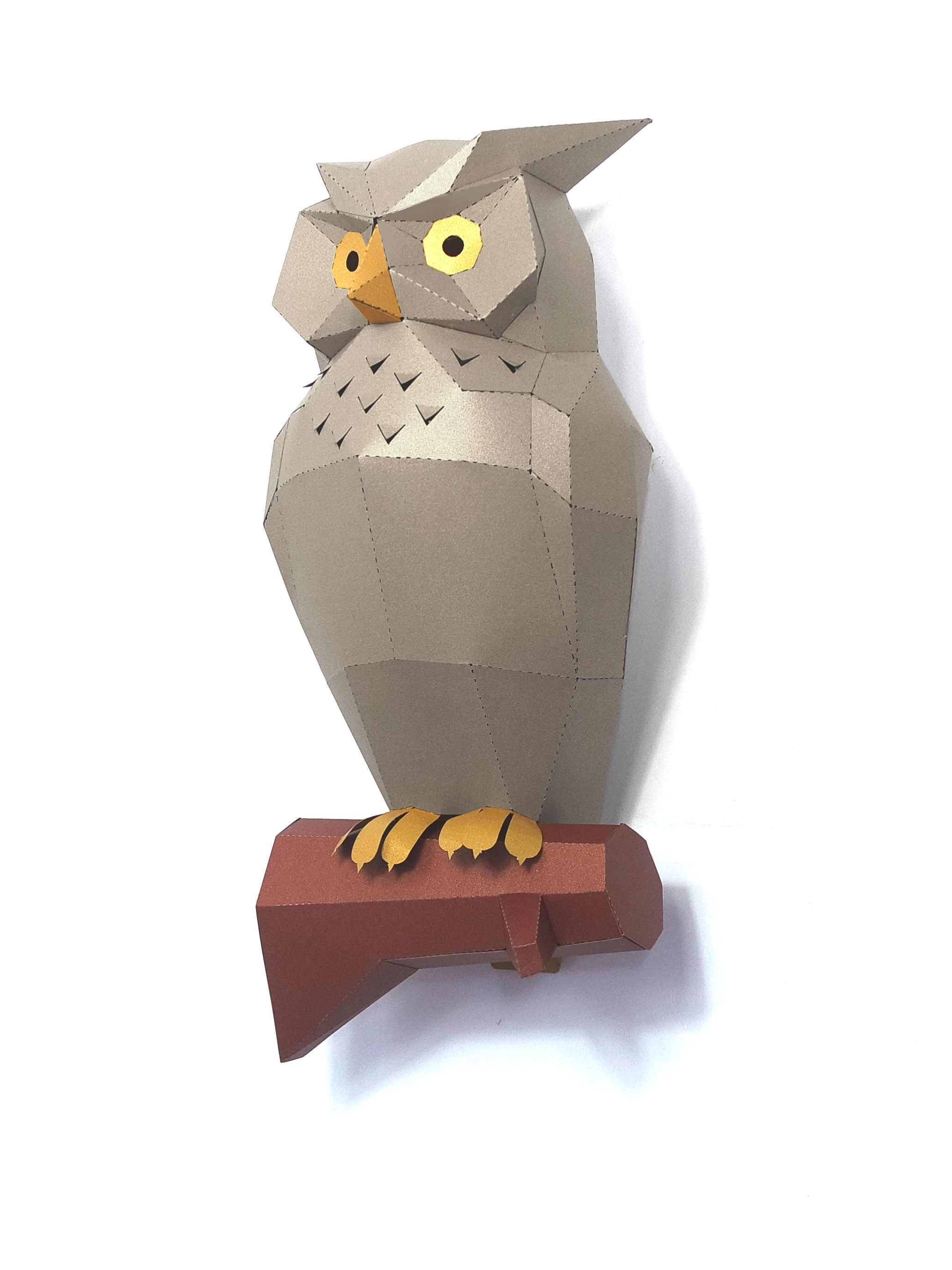 3D Owl Animal Paper Model Wall Art Sculpture Toy Home Decor Living Room Decor DIY Paper Craft Model Party Gift