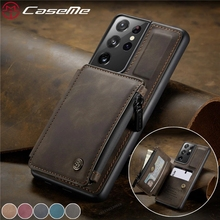 For Samsung Galaxy S 21 S21 Ultra Case Luxury Leather Zipper Wallet Back Cover For Coque Samsung Galaxy S21 + S 21 Plus Case
