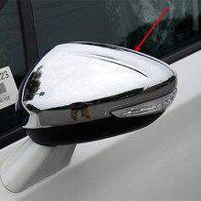 Стайлинг автомобиля, подходит для Peugeot 508 2014-2018, боковое зеркало, хромированная крышка, крышка заднего вида, автомобильные аксессуары, Беспла...