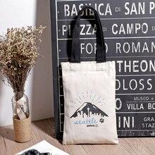 New Hot Sale Fashion Bag Versatile Canvas Shoulder Ladies Reusable Shopping Bags