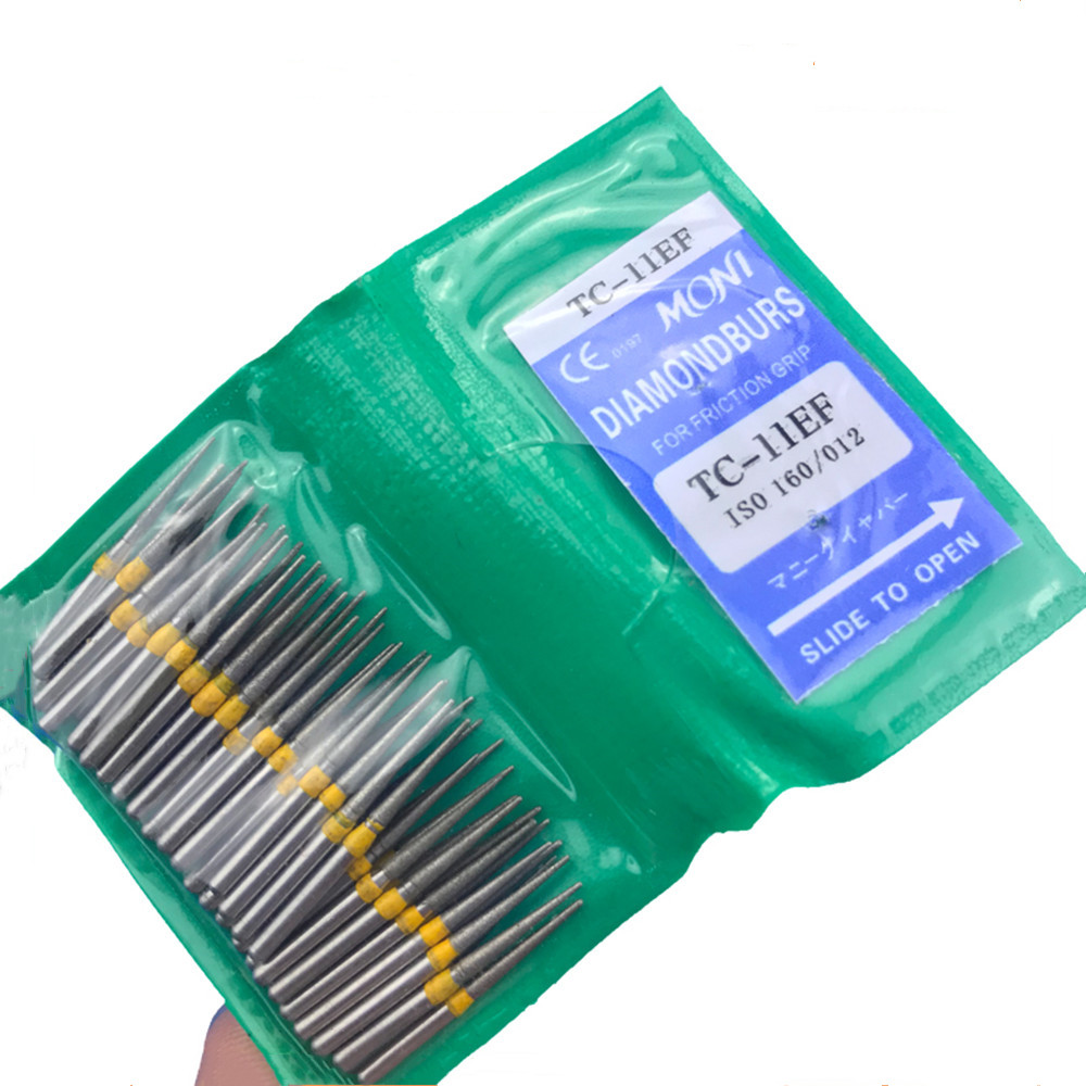 Dental Diamond FG High Speed Burs For Polishing TC-11EF Dental Burs
