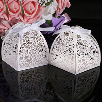 10 Pcs Laser Cut Gift Candy Boxes Bonbonniere Wedding Party Favor Best Festival Gift image