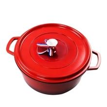 Кухонная утварь днище чугунная голландская печь, кастрюля блюдо с крышкой, предварительно приправленные антипригарным Эмалированным покрытием голландские печи, Pot'S Body Cas