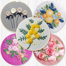 1Pcs 3D Ribbons Embroidery for Beginner Needlework Practice