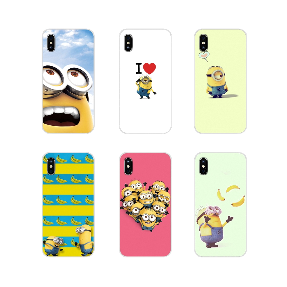Minion Banana Accessories Phone Cases Covers For Apple iPhone X XR XS 11Pro MAX 4S 5S 5C SE 6S 7 8 Plus ipod touch 5 6