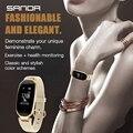 SANDA S3 Смарт Музыка для переключения наручные часы девушки платье часы женские ювелирные изделия монитор сердечного ритма Bluetooth для IPhone huawei ...