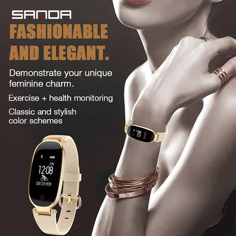 SANDA S3 Смарт Музыка для переключения наручные часы девушки платье часы женские ювелирные изделия монитор сердечного ритма Bluetooth для IPhone huawei samsung