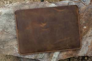 Image 2 - Handmade Genuine Leather laptop sleeve case for 12 13 15 inch laptop/vintage distressed leather sleeve case   MACX05S