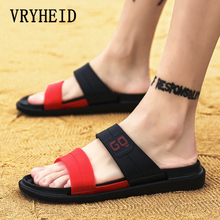 VRYHEID New Men Slippers Summer Flat Shoes Breathable Outdoor Beach Wedge Flip Flops Brand Indoor Home