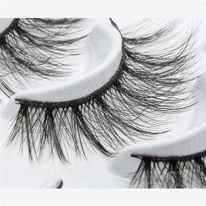 Image 4 - ISEEN 7 пар натуральные накладные Искусственные ресницы длинный макияж 3d норковые ресницы наращивание ресниц норковые ресницы для красоты