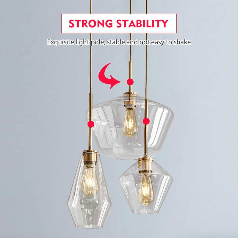 LED Glas Anhänger Licht Für Esszimmer Küche Design Vintage Retro Dekorative Anhänger Beleuchtung Industrie Nordic Hängen Lampe