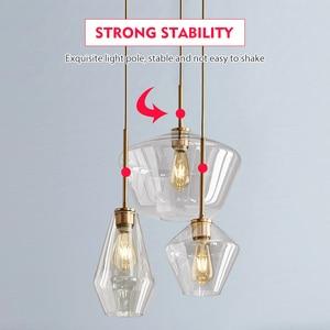 Image 4 - LED Glass Pendant Light For Dining Room Kitchen Design Vintage Retro Decorative Pendants Lighting Industrial Nordic Hanging Lamp