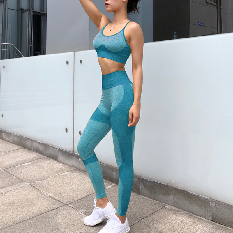 Camouflage Camo Set Wear For Women Gym Fitness Clothing Booty  Leggings Sport Bra Suit 9