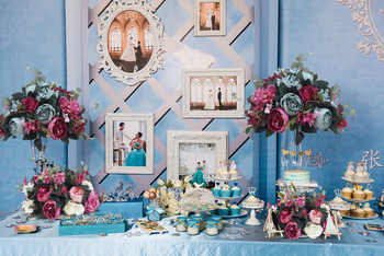 New table flower ball wedding centerpiece table flower wedding backdrop decor partyroad lead wall hotel silk flower arrangement