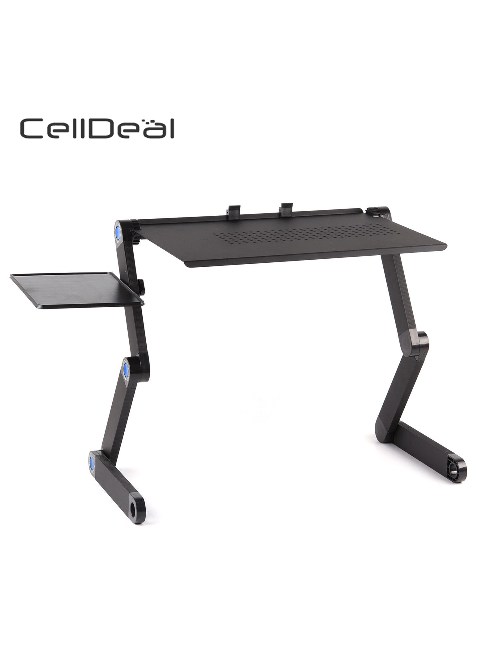 Adjustable Portable Folding Laptop Desk Computer Table Stand Tray for Bed Useful Side Tables Furniture Living Room Table
