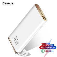 Baseus quick charge 30 20000 мАч power bank usb c pd 5a scp