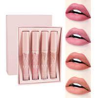 4 pçs/set Kyliejenner Fosco Batom Líquido Vermelho de Longa Duração À Prova D' Água Lip Gloss Lip Stain Matiz Batom Nu Maquiagem Gloss