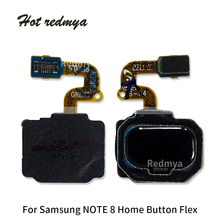 цена на Note 8 Home Button Touch ID Fingerprint Sensor Keypad Flex Cable For Samsung Galaxy Note 8 N950 N950F Replacement Parts