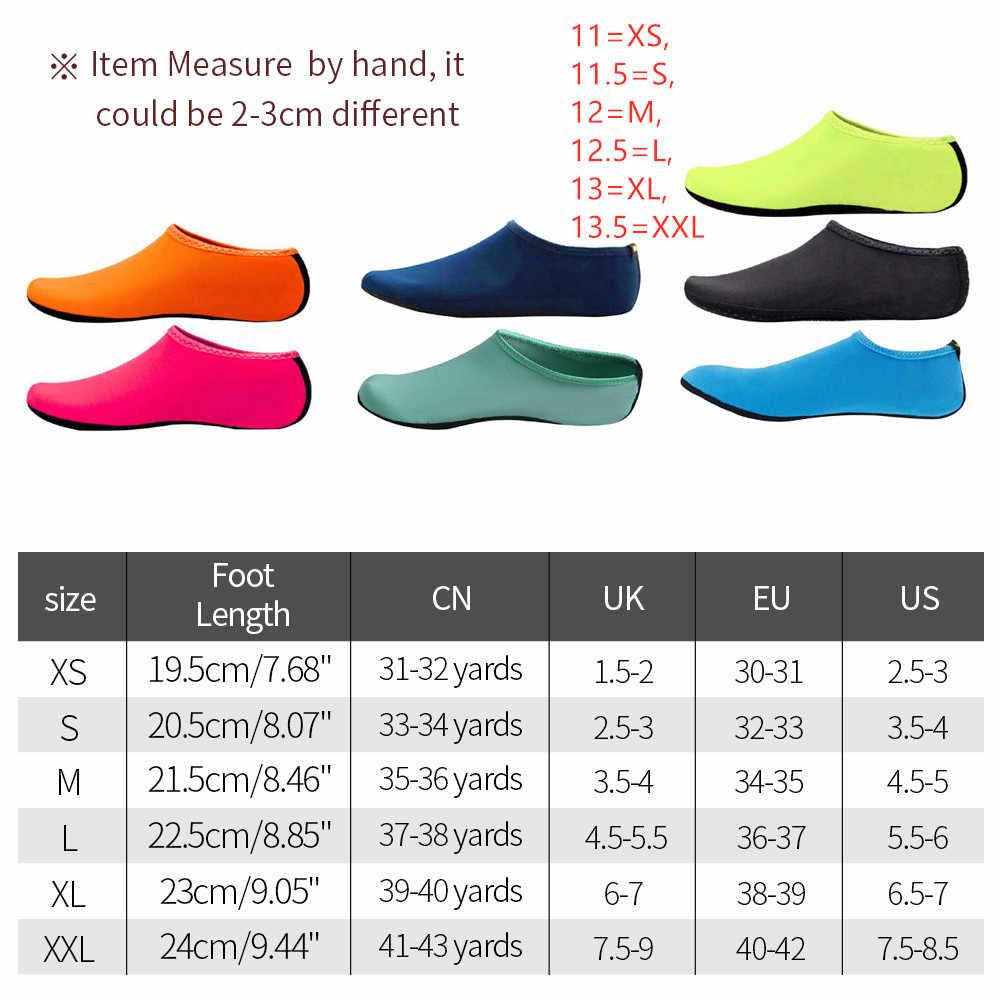 Plaj sneakers erkekler kadınlar su ayakkabısı yüzme ayakkabı düz renk yaz Aqua plaj ayakkabısı sahil Sneaker çorap terlik