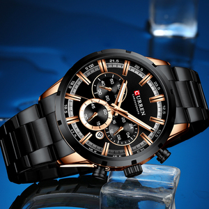 Image 4 - Luxury Brand CURREN Sporty Watch Mens Quartz Chronograph Wristwatches with Luminous hands 8355 Fashion Stainless Steel Clock