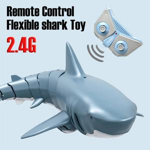 2020 New 2.4G Bionic Simulation Remote Control Shark Model Waterproof Toy For Kids Adults Funny Swimming Pool Bathroom Toys