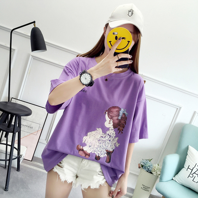 Female Tee Ladies  Neck Short Sleeve Summer Floral Mama Bear T Shirt Casual