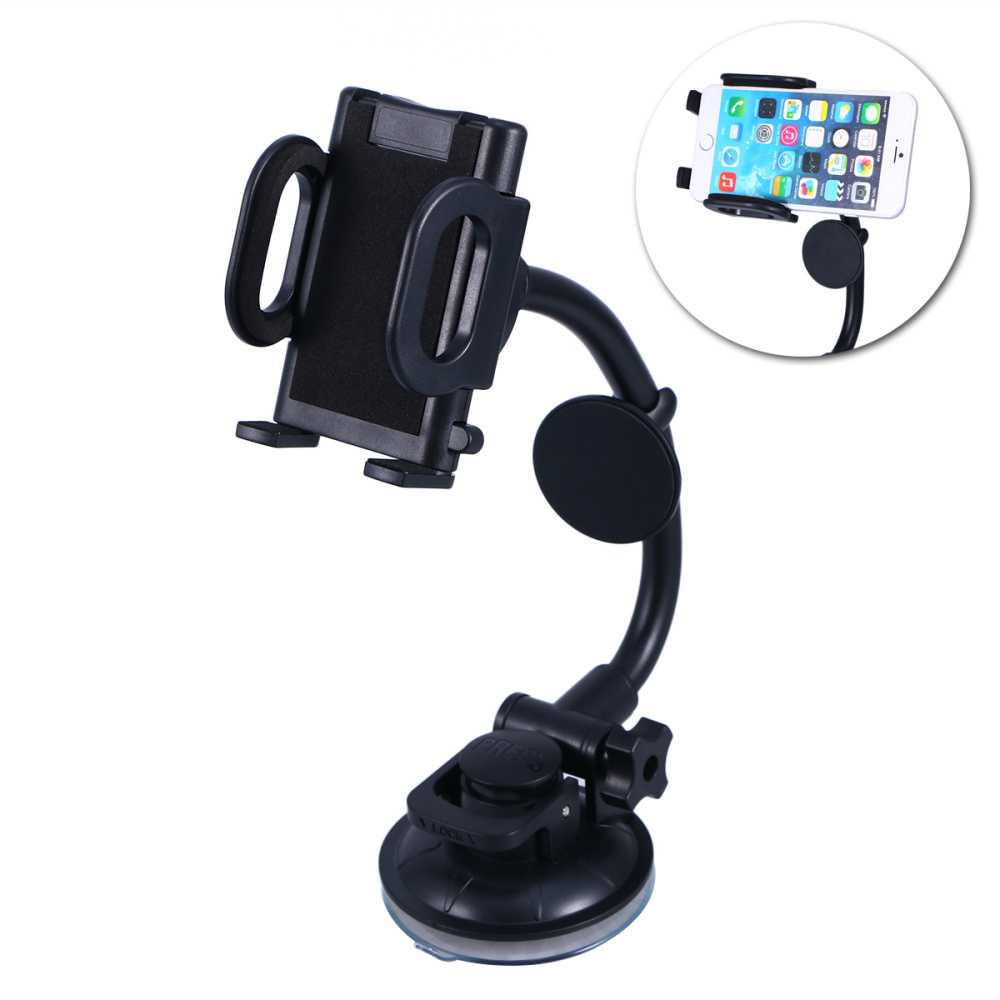 1pc Cellphone Holder Lightweight Practical Rotate Flexible Durable Cellphone Holder for Motor Vehicle