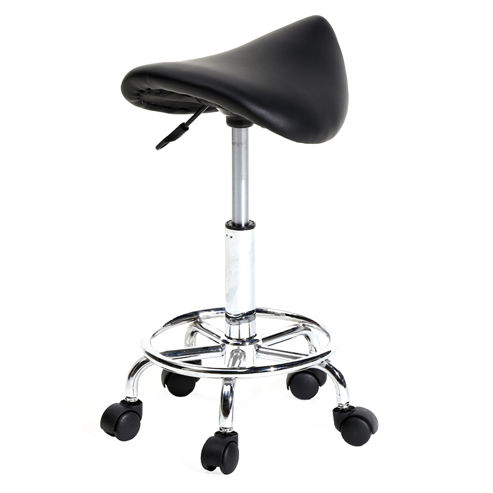【UK Warehouse】Saddle Stool Ha Ha Feet Rotation Bar Stool Black{Free Shipping UK} Drop Shipping