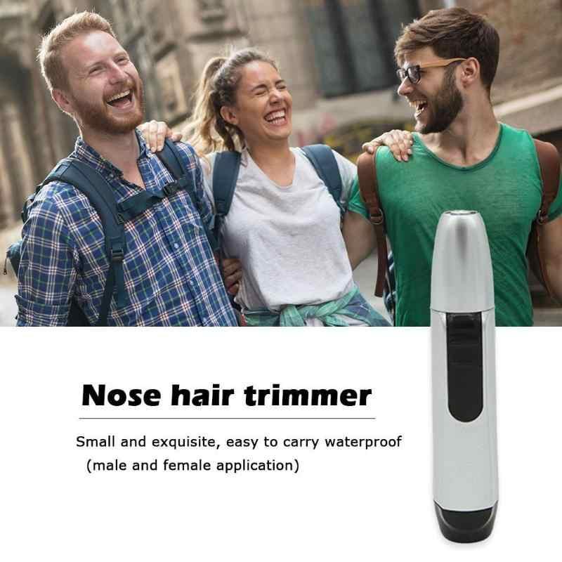 Recortadora eléctrica del pelo de la nariz de la oreja de la cara limpia de la nariz recortadora del pelo de la oreja eléctrica de carga rápida para hombres y mujeres