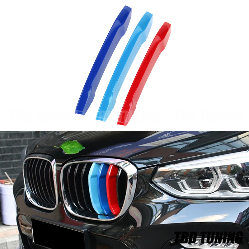 3pcs M-Colored Front Grille Insert Cover Trim Decoration For BMW X3 G01 2018