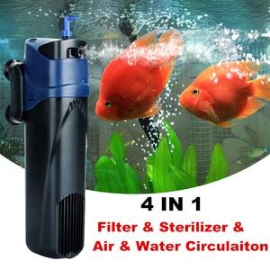 Image 1 - 220V Aquarium UV Sterilisator Filter Pomp 4 in 1 Sunsun Aquarium UV Lamp Interne Filter Beluchting Watercirculatie pomp 5 W/8 W