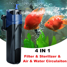 220V Aquarium UV Sterilizer Filter Pump 4 in 1 Sunsun Fish Tank UV Lamp Internal Filter Aeration Water Circulation Pump 5W/8W