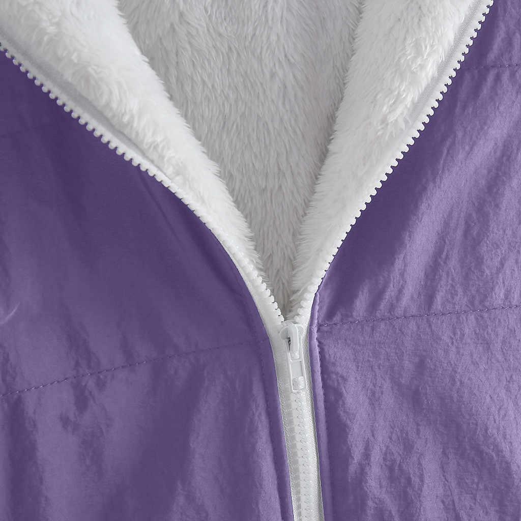 レディースコートファッション女性冬の厚みのコートパーカー長袖暖かいジャケット上着ジッパーコート特大 S-5XL Abrigos # F5
