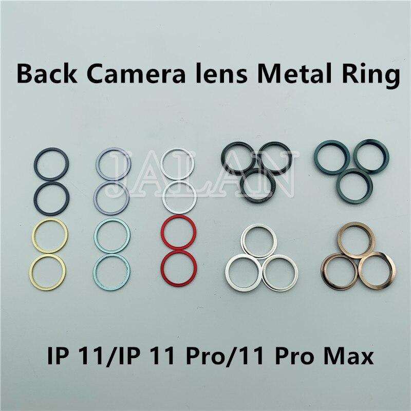 Jalan Belakang Kamera Logam Cincin untuk iPhone 11 Pro Max Kembali Lensa Kamera Besi Cincin Bezel Rusak 11Pro Max Promax penutup Belakang Perbaikan